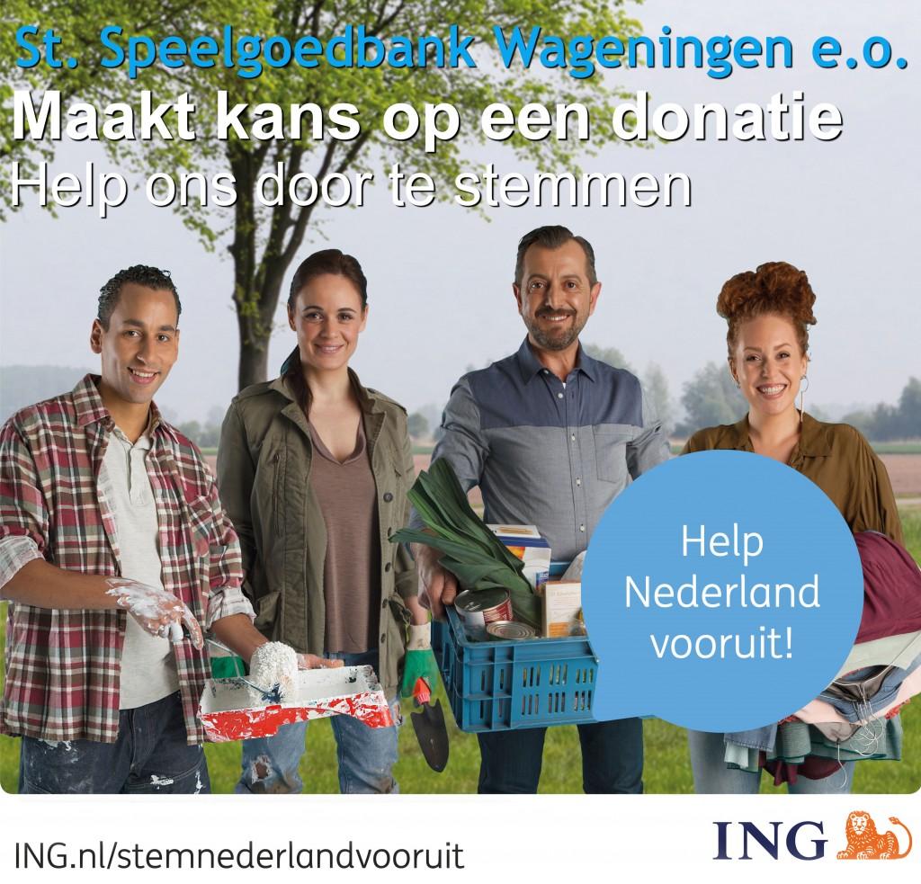Help Nederland Vooruit - Speelgoedbank Wageningen